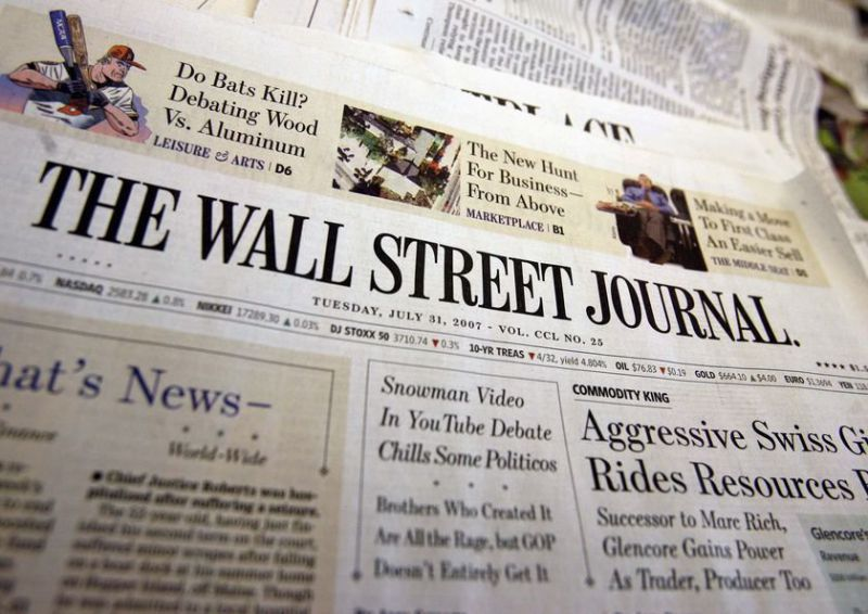 The Wall Street Journal Снимка: cenvironment.blogspot.com