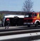 Обвинение за жената, която удари автобуса на 'Тракия'