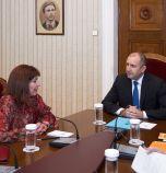 Президентът Румен Радев се срещна с главния инспектор в ИВСС Теодора Точкова