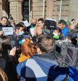 Протест пред МС - правителството кара хората да връщат получените 24 лв. на ден